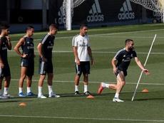 El Real Madrid prepara su duelo ante el Leganés. EFE/Archivo
