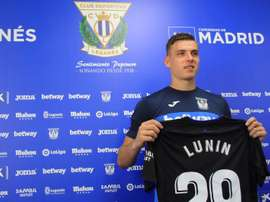 Lunin al fin se estrenó en Liga. EFE
