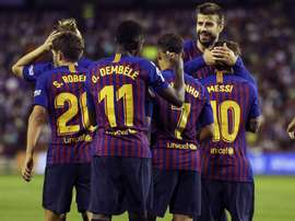 Le Barça a explosé Huesca. EFE