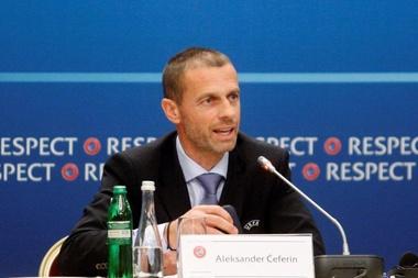 O presidente da UEFA deu a boa nova. EFE/Archivo
