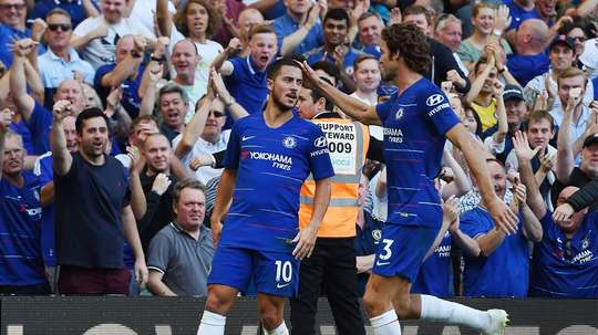 Chelsea celebrate the second. AFP