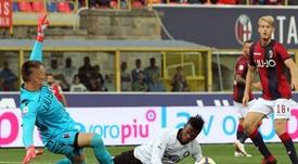 L'Inter a une option d'achat sur l'attaquant. EFE