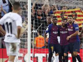 Barca thumped Huesca on Sunday. EFE