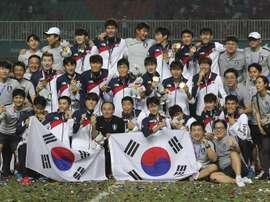Recibimiento de héroes para los triunfadores coreanos. EFE