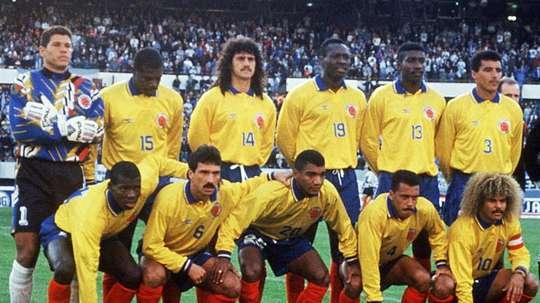 Tino Asprilla defendió la elástica colombiana en los 90. EFE
