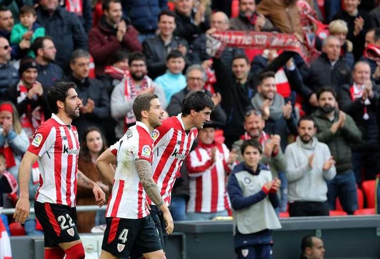 El Athletic venció con solvencia. EFE