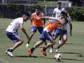 Argentina ya prepara su duelo ante México. EFE