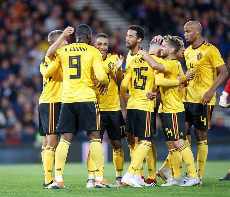 Bélgica, primera clasificada para la Eurocopa 2020. EFE