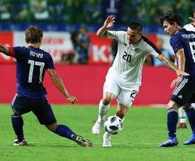 Japón le endosó un 3-0 al combinado 'tico'. EFE