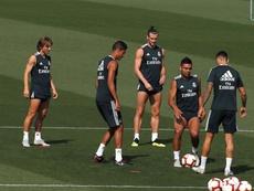 Kroos, Bale y Varane se pusieron a las órdenes de Lopetegui tras el parón. EFE