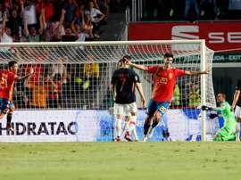 España pasó por encima de Croacia. EFE