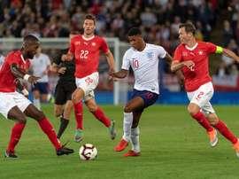 Marcus Rashford dio el triunfo a Inglaterra ante Suiza. EFE
