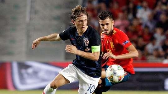 Modric explicó el tira y afloja que mantuvo con Ceballos. EFE