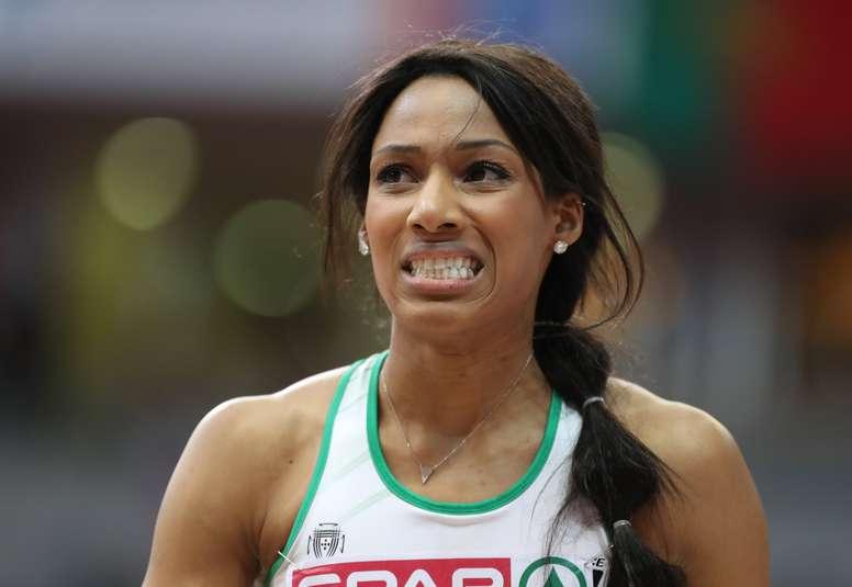 La atleta Patricia Mamona durante una competición. EFE/Archivo