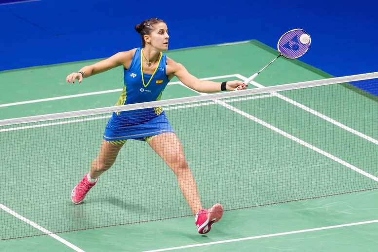 Carolina Marin durante un torneo. EFE/Archivo
