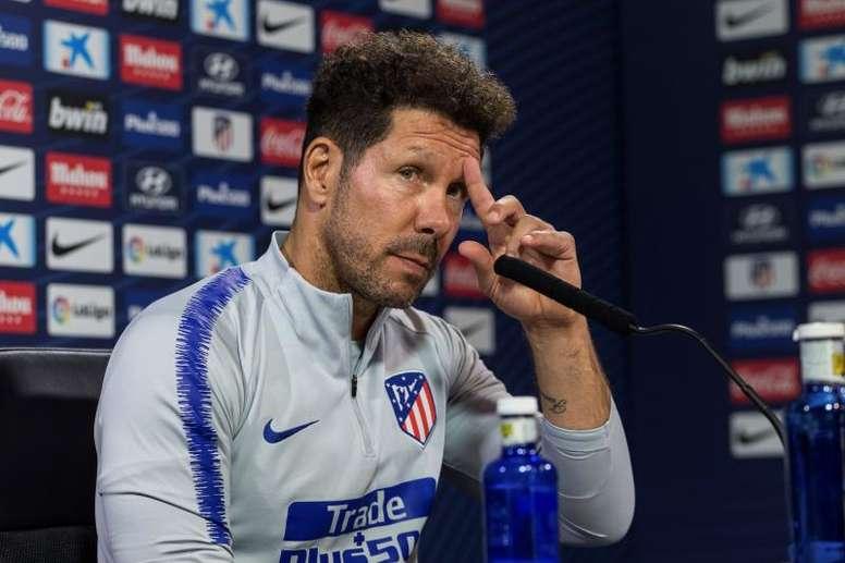 Simeone dejó claro que sólo dijo que no siente el estilo de juego de Guardiola. EFE