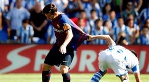 Un Messi en demi-teinte contre la Real Sociedad. EFE