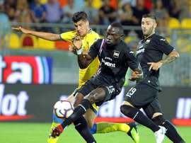 La Sampdoria no dio opción al Frosinone. EFE/EPA