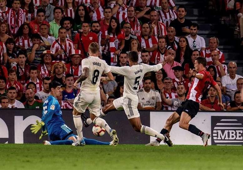 Madrid est la deuxième équipe du championnat en termes de passes réalisées. EFE