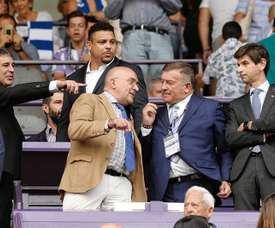 Ronaldo está encantado en Valladolid, y ha confirmado su apuesta por el club. EFE/Archivo