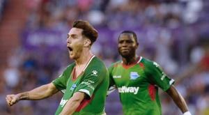 Ibai Gómez anotó en el minuto 93 ante el Valladolid. EFE