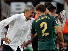 Francis habló sobre el partido del Athletic. EFE