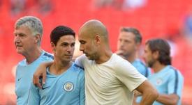 Guardiola and Arteta have a close relationship. EFE/Archivo