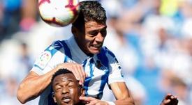 Héctor Moreno quiere seguir en la Real Sociedad. EFE/Archivo