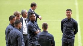 Cristiano Ronaldo no habla desde su expulsión. EFE