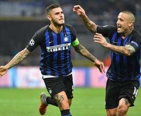 Icardi's stunner gor Inter's comeback started. AFP