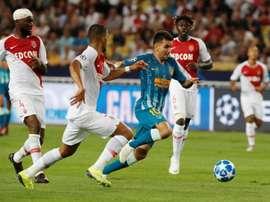 El Mónaco cayó derrotado ante el Atlético. EFE