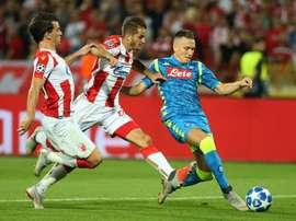 Piotr Zielinski tiene contrato con el Nápoles hasta 2021. EFE