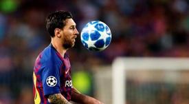 Messi a regagné les vestiaires en colère après le match. EFE