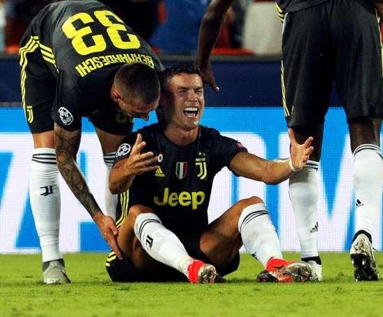 Cristiano Ronaldo no pudo evitar las lágrimas. EFE