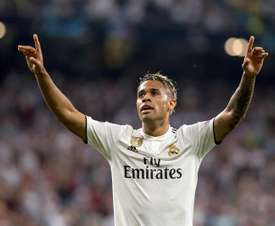 Mariano celebrates scoring against Roma in the Champions League. EFE