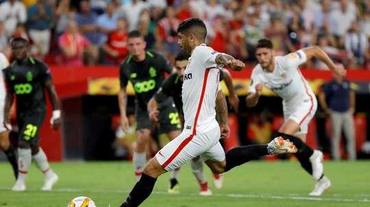 El Sevilla destrozó al Standard de Lieja. EFE