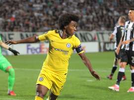 Willian was the main man against PAOK. AFP