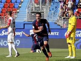 Kike García consiguió el primer tanto de la temporada. EFE