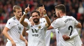 Moutinho empató el partido en Old Trafford. EFE
