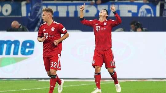 James está destacando en el Bayern. EFE