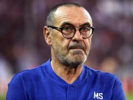 Sarri watched on as his side failed to score at West Ham's London Stadium. EFE
