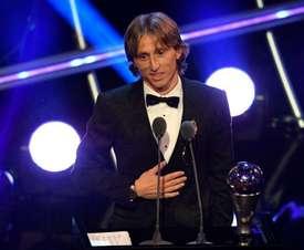Luka Modric, fier de son Mondial. EFE