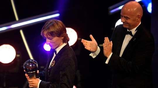 Modric won the award on Monday night.EFE