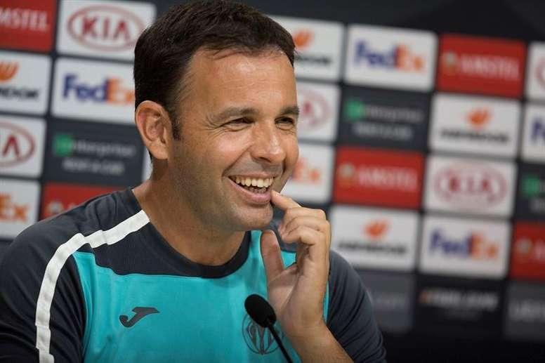 Calleja, satisfecho tras ganar al Athletic. EFE