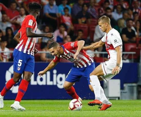 La primera mitad dejó la mejor cara del Atlético. EFE