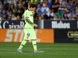 Um ano e meio depois Messi voltou a perder. EFE