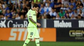 Messi fue suplente ante el Athletic. EFE/Archivo