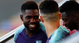 Umtiti could start to run from next week. EFE
