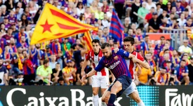 Athletic made it difficult for Barça at the Camp Nou. EFE