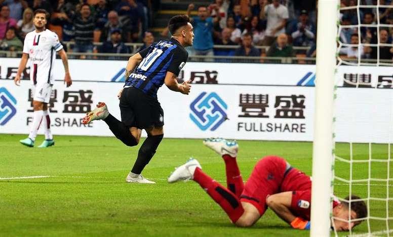 Inter - Cagliari: onzes iniciais confirmados. EFE/EPA
